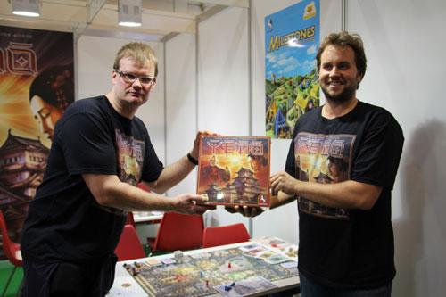 de auteurs van Yedo op Spiel 2012