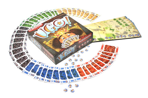 Ugo! - doos en spelmateriaal (Foto: Henk Rolleman)
