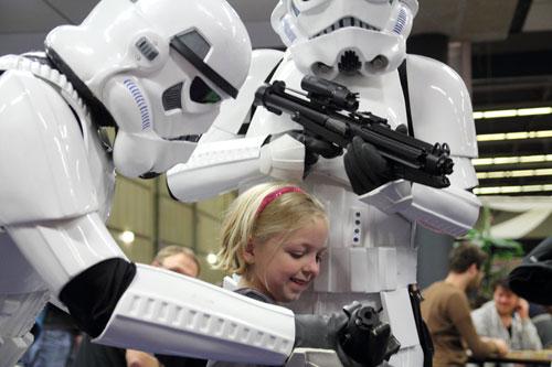 ook deze prinses is niet bang voor een paar storm troopers