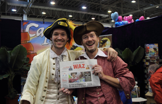 Nederlandse kapiteins in een Duitse krant